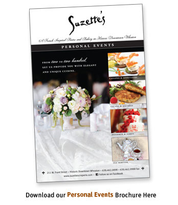 Personal Events, Tea & Catering Brochure